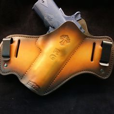 This holster gives you the option of concealed or open carry and is available in a variety of different colors and designs. Customize your holster today! Custom Leather Belts, Tap Shoes, Dance Shoes, Leather Working Patterns, Custom Holsters, Open Carry, Concealed Carry, American Made, Leather Craft
