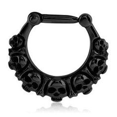 Blackline Skulls Septum Clicker | Tulsa Body Jewelry
