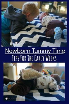 Newborn Tummy Time Tips for the early weeks.  These tips are awesome for your baby girl or baby boy! - Pink Oatmeal