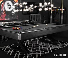 Would definitely do this in the recreation/billiards room Stylish Home Decor & Chic Furniture At Affordable Prices Pool Table Games, Pool Table Room, Pool Tables, Billard Design, Games Room Inspiration, Room Ideas, Game Room Bar, Game Rooms, Pool Table Lighting