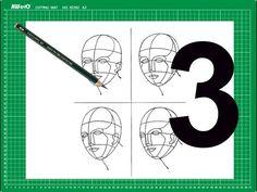 """CURSO de dibujo a lápiz Cap. 15 """"Vistas de la cabeza hacia abajo"""" - YouTube"""