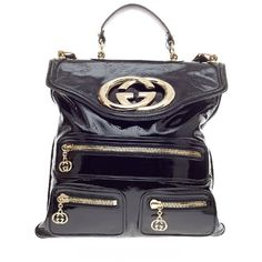 Pre-owned Gucci Tote ($591) ❤ liked on Polyvore featuring bags, handbags, tote bags, apparel & accessories, black, tote handbags, wallets & cases, messenger bag purse, black purse and gucci tote bag