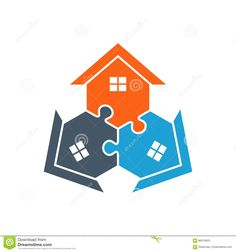 Houses Puzzle Assembled Illustration Stock Vector - Illustration of detailed, mortgage: 86419403 Real Estate Logo, Real Estate Business, Logos, Logo Real, Family Illustration, Home Icon, Home Logo, Puzzle, Houses