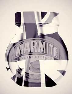 Marmite - A national treasure! Yeast Extract, Marmite, Funky Art, National Treasure, Design Inspiration, Union Jack, Britain, Advertising, Posters