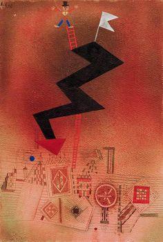 Paul Klee - Gebannter Blitz, 1927.