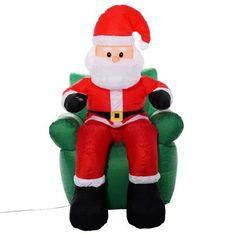 Buy Goplus 6 Ft Airblown Inflatable Christmas Xmas Santa Claus Sofa Decor Lawn Yard Outdoor at Walmart.com
