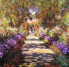 Bek-Pathway in Monets Garden at Giverny, Claude Monet | Oil Paintings