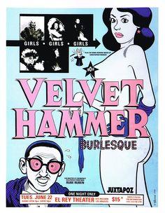 """PG270 """"Velvet Hammer Burlesque"""" Poster by Daniel Clowes (1999)"""