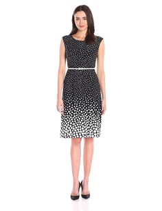 Kasper Women's Belted Ombre Polka Dot Dress * This is an Amazon Affiliate link. Click on the image for additional details.