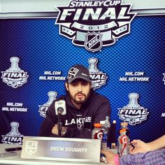 Los Angeles Kings #8 Drew Doughty - 2012 Stanley Cup Finals Media Day