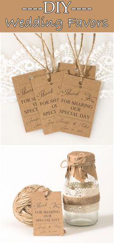 country rustic burlap wedding favor tags for DIY wedding favors @elegantwinvites