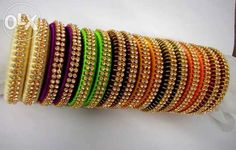 silk thread bangles - Google Search