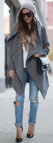 Mia Mia Mine Gray Waterfall Jacket Fall Street Style Inspo