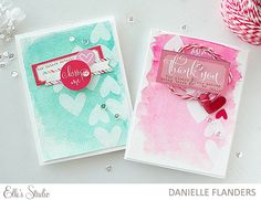 Valentine cards by Danielle Flanders for Elle's Studio
