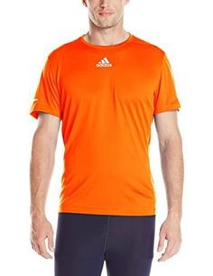 adidas Performance Men's Sequencials Money Short-Sleeve Tee, Large, Solar Red - http://www.exercisejoy.com/adidas-performance-mens-sequencials-money-short-sleeve-tee-large-solar-red/athletic-clothing/