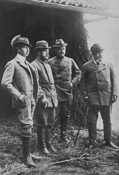 Alfred, Hereditary Prince of Saxe-Coburg and Gotha, Grand Duke Ernst of Hesse and By Rhine, Tsar Nicholas II and King Edward VII.