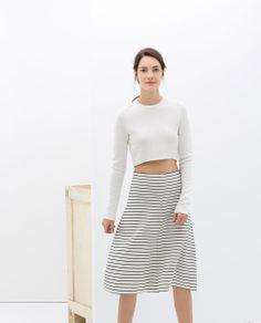 Zara   Striped Skirt.