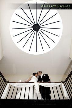 Staircase Wedding shot