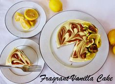 Raw Lemon Caramel Coconut Yogurt Cake from Fragrant Vanilla Cake