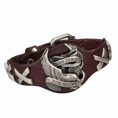 Genuine Leather Bracelets Cool Eagle fashion Men Women Bracelet Rock Punk Style Bracelet
