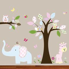 Nice Wall decal tree owl nursery jungle vinyl baby by wallartdesign