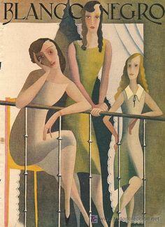 cMag439 - Blanco y Negro Magazine cover by José de Almada Negreiros / 1929