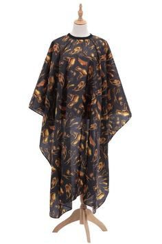 New Hairdressing Cloth Golden Pattern Apron Polyester Haircut Cape Wrap Hair Styling Design Supplies Salon Barber Gown Super breathable.  Smooth and non stick hair.  Nice style, Unique design pattern.  Skin friendly, soft and comfortable.  No stimulation to skin and antistatic. Cut Hair At Home, Golden Pattern, Floral Print Maxi Dress, Hairdresser, Barber, Pattern Design, Cape, Apron, Kimono Top