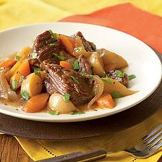 Beer-Braised Beef with Onion, Carrot, and Turnips - Comfort Food Dinner Recipes - Cooking Light Mobile Healthy Recipes On A Budget, Cooking On A Budget, Budget Meals, Cheap Recipes, Frugal Meals, Freezer Meals, Food Budget, Fast Meals, Easy Recipes