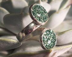 NUEVO anillo de estilo doble envoltura Druzy por hangingbyathread1