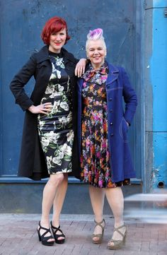 Flowery dresses can be smart when y're wearing them like these two ladies - Martha&Saskia from the blog Two ladies and a wardrobe. Photo by MisjaB.nl