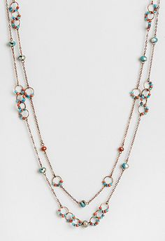 Carlie Long Multi Bead Necklace, 9-0035996168, Carlie Long Multi Bead Necklace Main View PDP