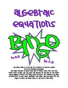 Solving algebraic equations and using the answers on your bingo board is not only good practice but also really fun!:)