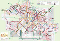 Public transport map - Sofia, Bulgaria