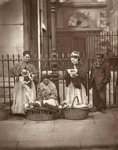 Street sellers at the Pro cathedral on Marlborough Street circa 1900