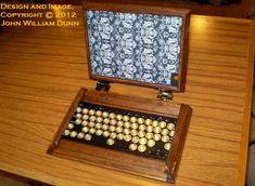 steampunk ipad case open 650x475 Steampunk iPad Case with Bluetooth Keyboard