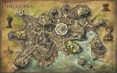 Great work from Herwin Weilink: Theogonia City Map for Erevos Campaign by Djekspek.deviantart.com on @deviantART