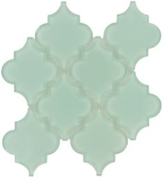 I Love this Backsplash so much! I will happen someday! Pacific Tile Company  Water Jet Glass Series, Unique Shapes, Mist, Glossy, Blue, Glass