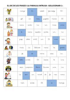 El joc de les frases i la paraula intrusa