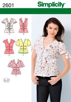 Womens Blouses Sewing Pattern 2601 Simplicity