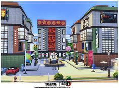 This apartment building has many surprises. Found in TSR Category 'Sims 4 Residential Lots' Lotes The Sims 4, Tokyo Apartment, Malibu Beach House, Malibu Beaches, Sims Community, Electronic Art, Reference Images, City Living, Spa Day