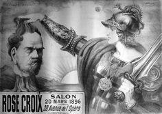 Poster for the fifth Salon de la Rose+Croix Point Sarluis - Salon de la Rose + Croix - Wikipedia, the free encyclopedia
