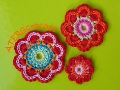 Flower motifs coming soon to www.etsy.com/shop/TheGreenLighthouse! I love the detail of these flowers!