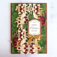 Fall and Christmas Border Stickers Made Easy! - Anna Griffin Christmas Border, Christmas Cards, Anna Griffin Cards, Make It Simple, Embellishments, Card Making, Merry, Paper Crafts, Stickers