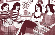 Juxtapoz Magazine - Laura Callaghan's Moody Girls