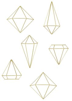 In a stunning brass finish, the minimal, geometric shape of each piece in this contemporary geometric metal wall art set pops. Do It Yourself Inspiration, Diy Tumblr, Diy And Crafts, Arts And Crafts, Wall Art Sets, Metal Wall Art, Geometric Shapes, Christmas Diy, Diy Home Decor