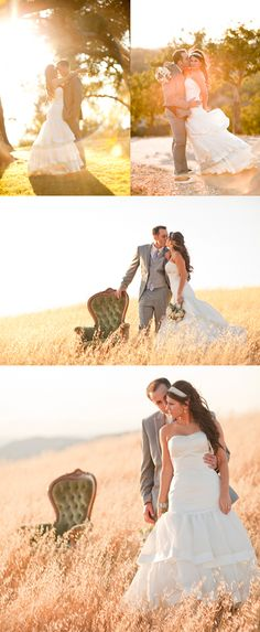 Wedding pictures - Love the chair in the field