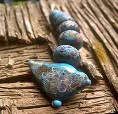 Handmade LAMPWORK Glass Bead Set DONNA MILLARD
