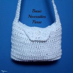 Free crochet pattern for the Basic Necessities Purse. The purse is the perfect size for your very basic needs, or for young girls.