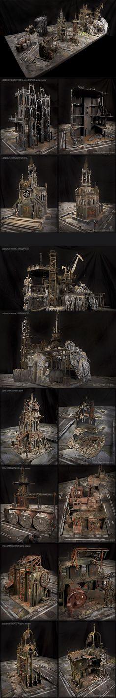 Game table terrain model