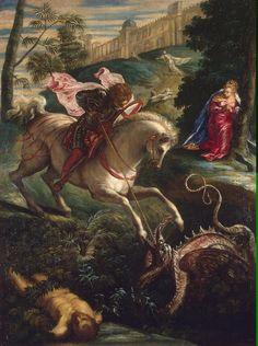 Jacopo Robusti (Tintoretto), Saint George and the Dragon, 1550